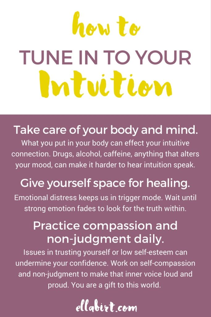 how to hear your intuition
